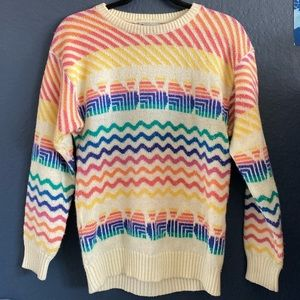 •Vintage Multi-Colored Sweater•